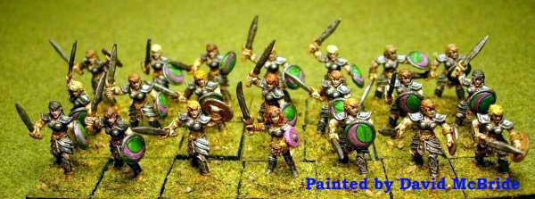 Armies of Arcana Amazons painted